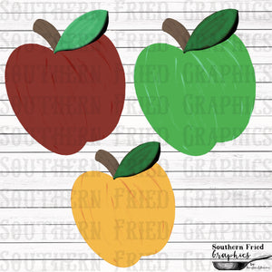 Traditional Apple Template Digital Graphic Set