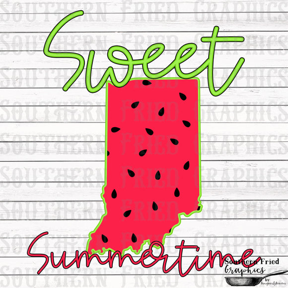 Indiana Sweet Summertime Digital Graphic