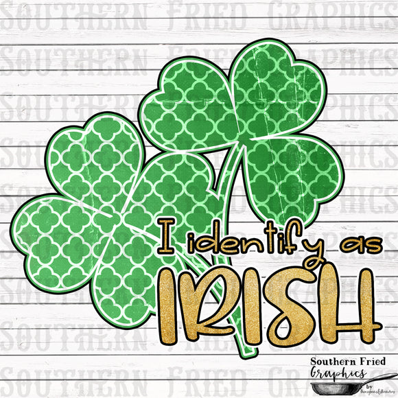 I Identify as Irish V1 Printable Digital Graphic