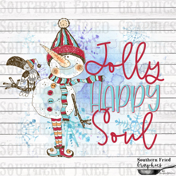 Jolly Happy Soul Snowman Digital Graphic