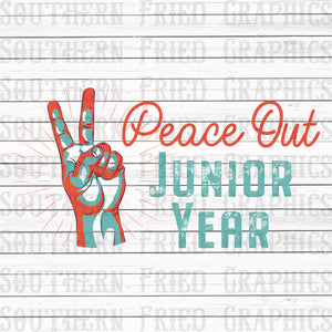 Peace Out Junior Year Graphic