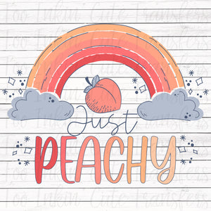 Just Peachy Rainbow Sublimation Transfer