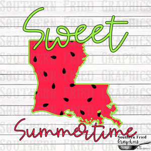 Louisiana Sweet Summertime Digital Graphic