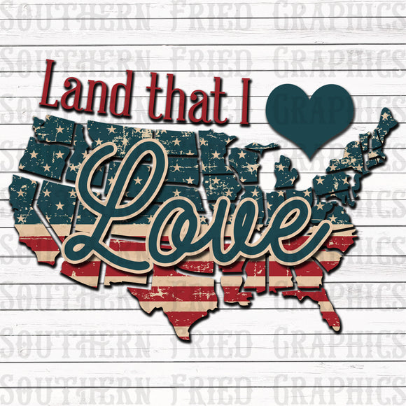 Land that I Love Digital Graphic