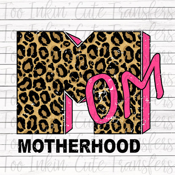 Pink Leopard MTV Inspired Motherhood Sublimation Transfer