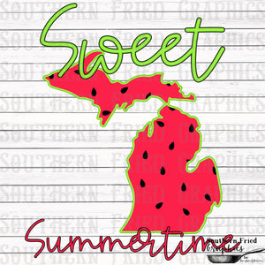 Michigan Sweet Summertime Digital Graphic