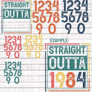 Straight Outta Year Mini Digital Graphic Bundle