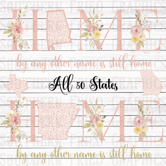 Home by any other Name 50 States Digital Graphic Bundle