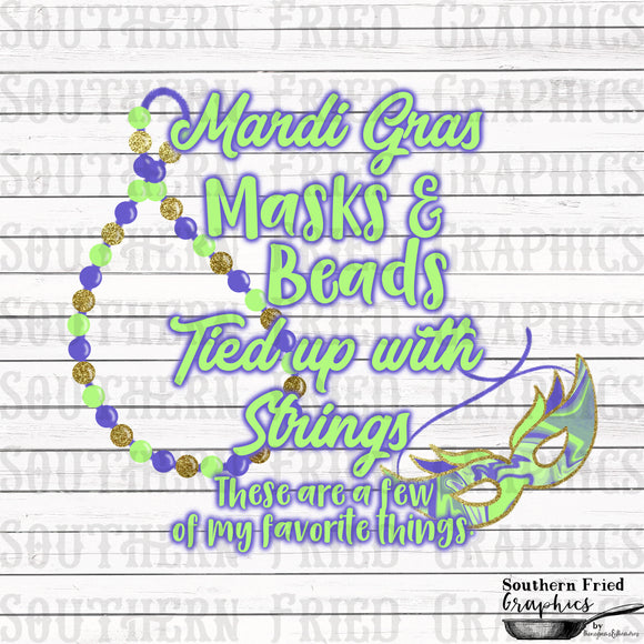 Mardi Gras Favorite Things Digital Graphic