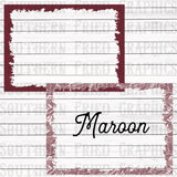Paisley/Solid School Spirit Frames Individual Digital Graphic-Your Choice of Colors