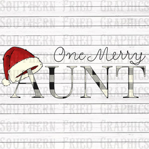 One Merry Aunt Digital Graphic