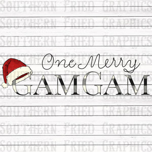 One Merry GamGam Digital Graphic