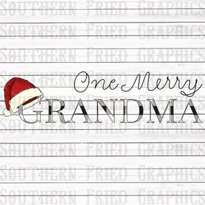 One Merry Grandma Digital Graphic