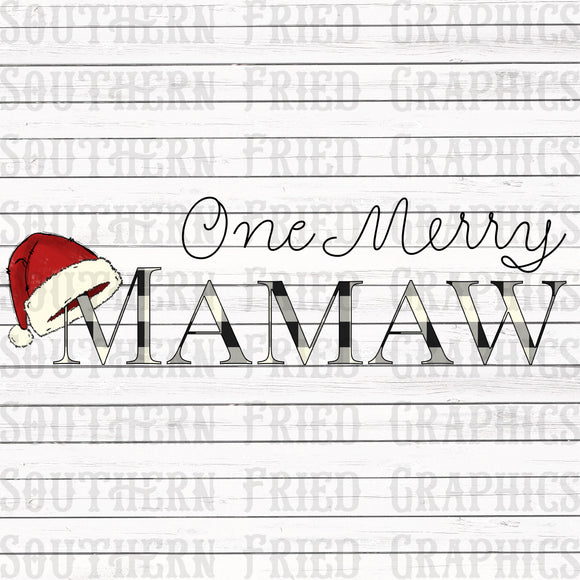 One Merry Mamaw Digital Graphic