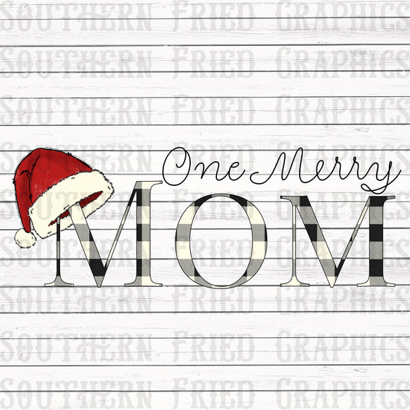 One Merry Mom Digital Graphic