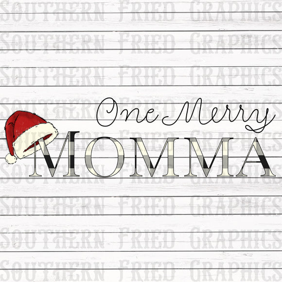 One Merry Momma Digital Graphic