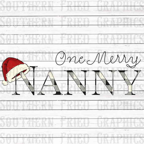One Merry Nanny Digital Graphic