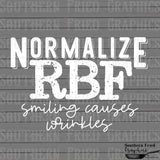 Normalize RBF White Screen Print Transfer RTS
