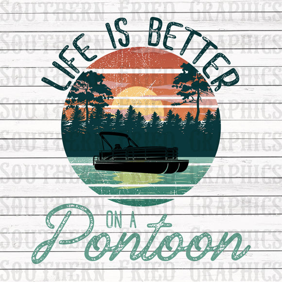 Life is Better on a Pontoon Graphic