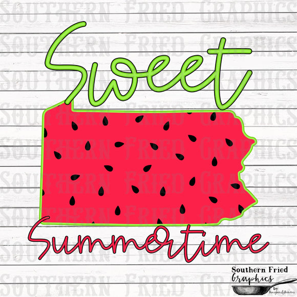 Pennsylvania Sweet Summertime Digital Graphic