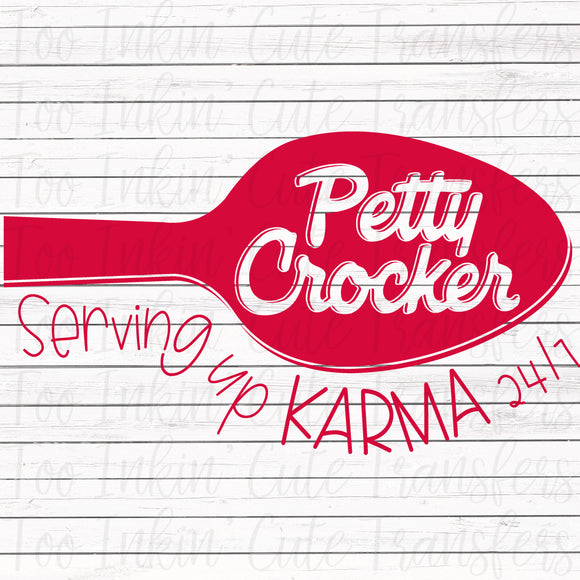 Petty Crocker Screen Print Transfer RTS