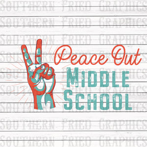 Peace Out Middle School Graphic
