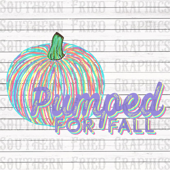 Pumped for Fall Digital Graphic