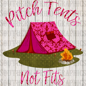 Pitch Tents Digital Graphic