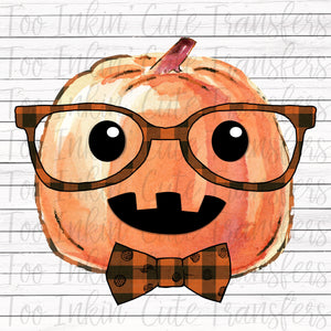 Plaid Hipster Pumpkin Transfer