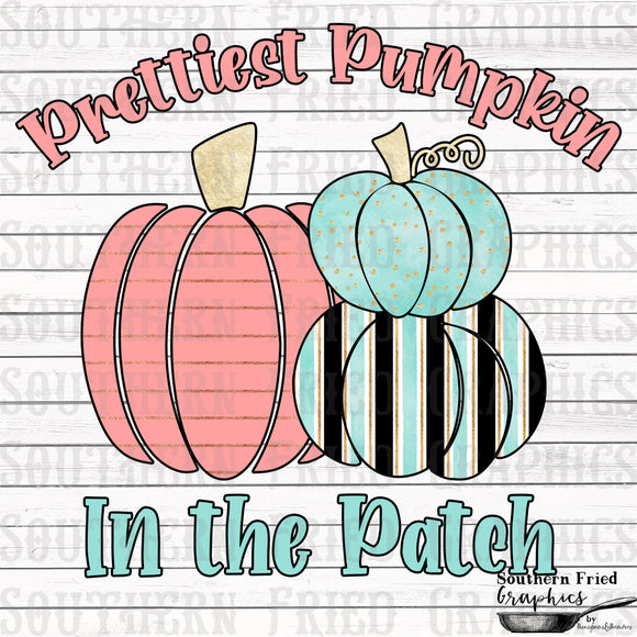 Prettiest Pumpkin in the Patch Digital Graphic