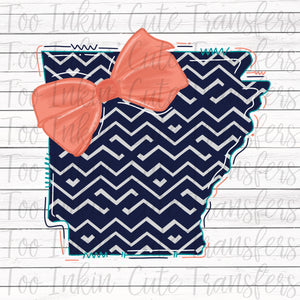 Pretty Preppy Arkansas Sublimation Transfer