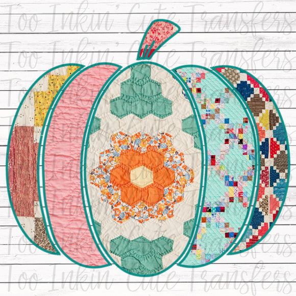 Quilted Pumpkin Transfer