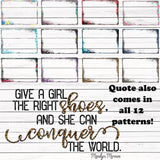 Shoe Quote and Matching Frame MEGA Digital Graphic Bundle
