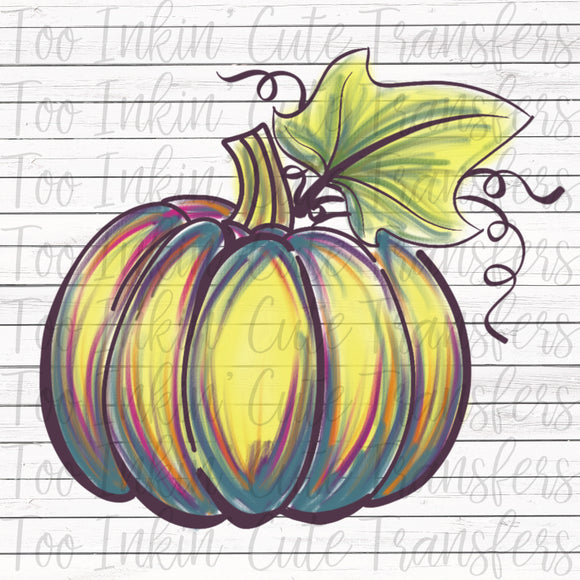Hand Drawn Pumpkin 4 Transfer