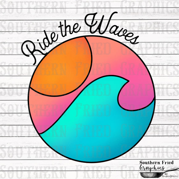 Ride the Waves Digital Graphic