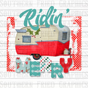 Ridin' Merry Digital Graphic