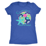 Summer State of Mind Ladies Triblend Tee