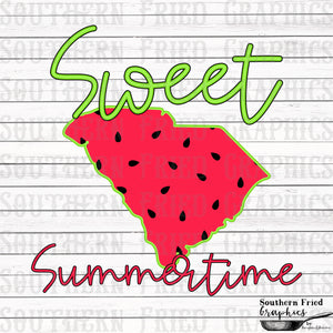 South Carolina Sweet Summertime Digital Graphic