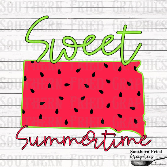 South Dakota Sweet Summertime Digital Graphic
