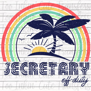 Secretary Off-Duty Sublimation Transfer