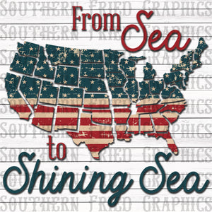 From Sea to Shining Sea Digital Graphic