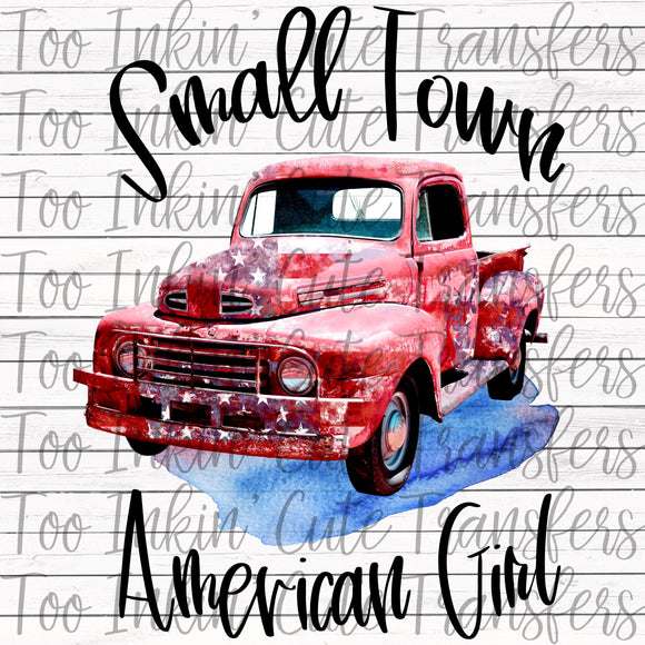 Small Town American Girl Transfer