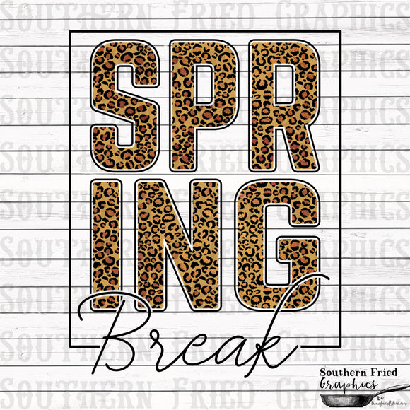 Spring Break Printable Digital Graphic