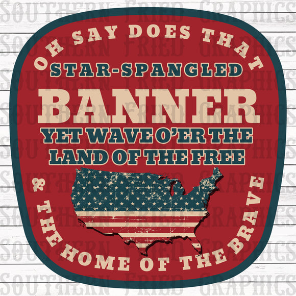 Star Spangled Banner Digital Graphic