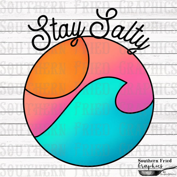 Stay Salty Digital Graphic
