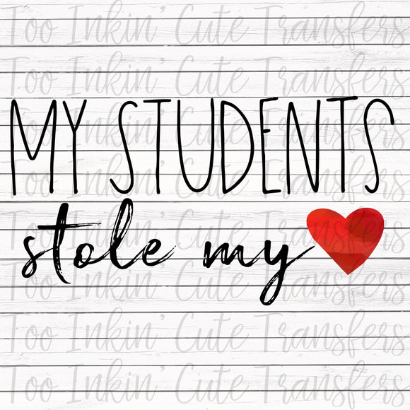My Students Stole my Heart Transfer