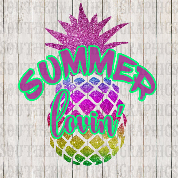 Summer Lovin' Pineapple Digital Graphic