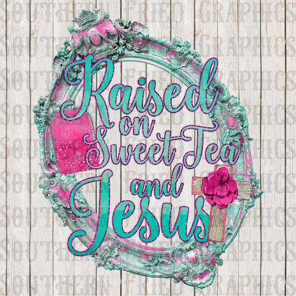 Sweet Tea & Jesus Digital Graphic