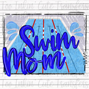 Swim Mom Sublimation Transfer