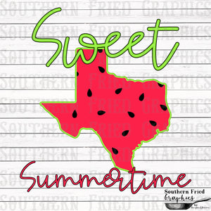 Texas Sweet Summertime Digital Graphic